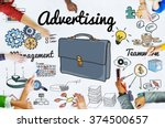 advertising campaign promotion... | Shutterstock . vector #374500657