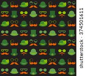 seamless vector pattern with... | Shutterstock .eps vector #374501611