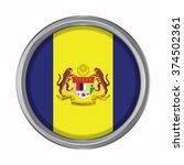 3d button flag of putrajaya... | Shutterstock .eps vector #374502361