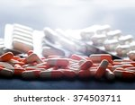 background of tablets. many... | Shutterstock . vector #374503711
