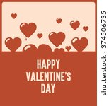 happy valentines day  flying... | Shutterstock .eps vector #374506735