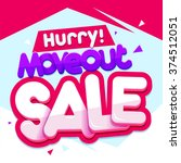 moveout sale banner. sale and... | Shutterstock .eps vector #374512051