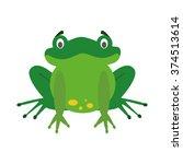 Cute Cartoon Frog Vector...