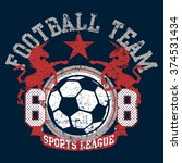 soccer football sports league... | Shutterstock .eps vector #374531434