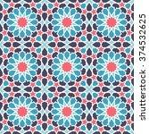 middle eastern style pattern....   Shutterstock .eps vector #374532625