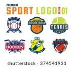 sport logo design set | Shutterstock .eps vector #374541931