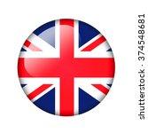 the british flag. round glossy... | Shutterstock . vector #374548681