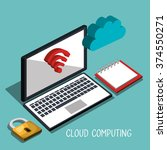 cloud computing design  | Shutterstock .eps vector #374550271