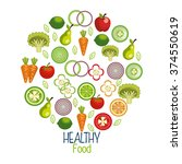 healthy food design  | Shutterstock .eps vector #374550619