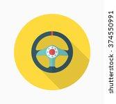 racing steering wheel helmets... | Shutterstock .eps vector #374550991