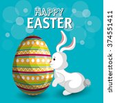 happy easter design  | Shutterstock .eps vector #374551411