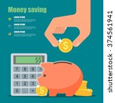 money saving concept.... | Shutterstock . vector #374561941