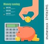 money saving concept.... | Shutterstock . vector #374561941