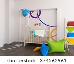 white nursery. 3d illustration | Shutterstock . vector #374562961