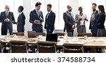 business people meeting... | Shutterstock . vector #374588734