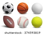 collection of balls isolated on ... | Shutterstock . vector #374593819