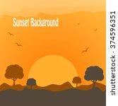 desert sunset | Shutterstock .eps vector #374596351