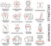 vector set of 16 icons related... | Shutterstock .eps vector #374607265