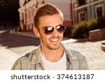 close up photo of smiling man... | Shutterstock . vector #374613187