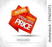 sale tag special price paper...   Shutterstock .eps vector #374621071