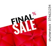 final sale vector banner... | Shutterstock .eps vector #374621254