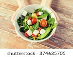 healthy eating  dieting and... | Shutterstock . vector #374635705