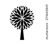 black tree silhouette isolated... | Shutterstock .eps vector #374642845