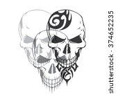 skull   vector skull   skull... | Shutterstock .eps vector #374652235
