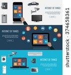 tablet  laptop  smartphone with ...   Shutterstock .eps vector #374658361
