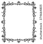 vector vintage border frame... | Shutterstock .eps vector #374664805