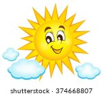 happy sun topic image 1   eps10 ... | Shutterstock .eps vector #374668807