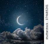 backgrounds night sky with... | Shutterstock . vector #374685241