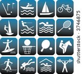 sport icons set.   Shutterstock .eps vector #3746875