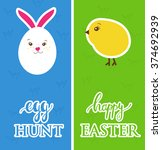 Vector Easter Banners With  Eg...