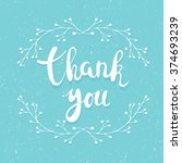 thank you handwritten... | Shutterstock .eps vector #374693239