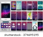 creative ui  ux  gui screens... | Shutterstock .eps vector #374695195