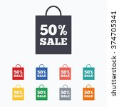 50  sale bag tag sign icon.... | Shutterstock .eps vector #374705341