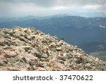 Mountain Summit Woman Hiking...