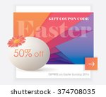 easter gift coupon widget for...