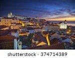 lisbon. image of lisbon ... | Shutterstock . vector #374714389
