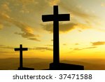 cross silhouette and the clouds ... | Shutterstock . vector #37471588