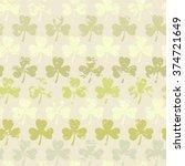 grunge clover pattern. seamless ... | Shutterstock . vector #374721649
