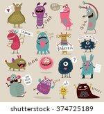 Fun Cute Cartoon Monsters
