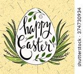 happy easter typographical...   Shutterstock .eps vector #374730934