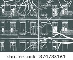raster illustration. urban... | Shutterstock . vector #374738161