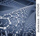 nanotechnology   graphene... | Shutterstock . vector #374741545