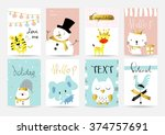 light pink blue collection for... | Shutterstock .eps vector #374757691