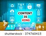 technology and biz concept... | Shutterstock . vector #374760415