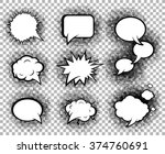 comic speech bubbles icons... | Shutterstock .eps vector #374760691