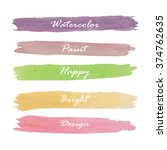 light violet green yellow pink... | Shutterstock .eps vector #374762635